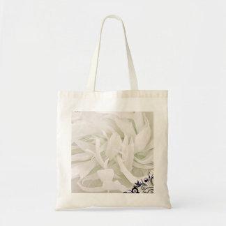Inspiring Green mixed white floral design Tote Bag