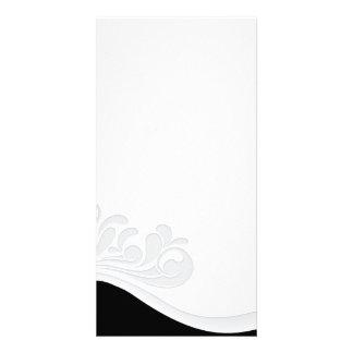 Inspiring Grey floral and damask pattern Card