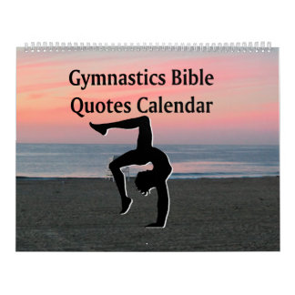 INSPIRING GYMNASTICS BIBLE QUOTE CALENDAR