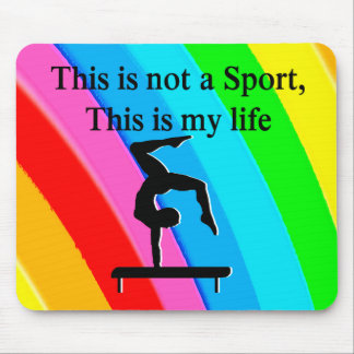 INSPIRING GYMNASTICS QUOTE DESIGN MOUSE PAD