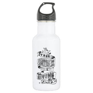 Inspiring Hand lettered chalkboard quote Water Bottle