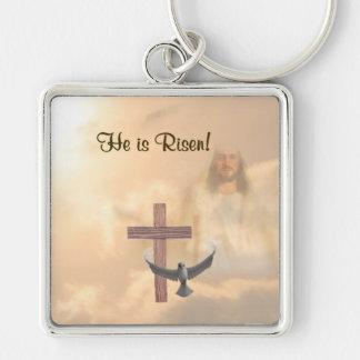 Inspiring He is Risen!  Key Ring Keychain