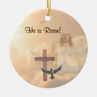 Inspiring He is Risen Ornament
