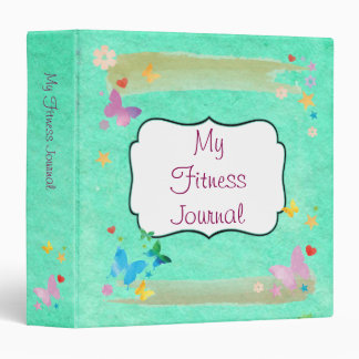 Inspiring Health and Fitness Motivation Journal 3 Ring Binder