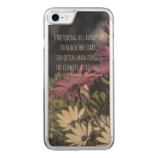 Inspiring Jeremy Bentham Quote Carved iPhone 8/7 Case