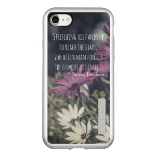 Inspiring Jeremy Bentham Quote Incipio DualPro Shine iPhone 8/7 Case