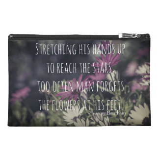 Inspiring Jeremy Bentham Quote Travel Accessory Bag