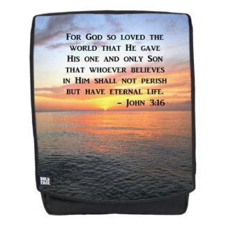 INSPIRING JOHN 3:14 SUNRISE PHOTO BACKPACK