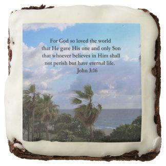 INSPIRING JOHN 3:16 CHOCOLATE BROWNIE
