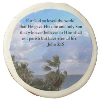 INSPIRING JOHN 3:16 SUGAR COOKIE