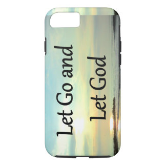 INSPIRING LET GO AND LET GOD PHOTO iPhone 8/7 CASE