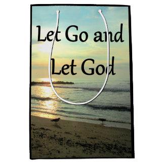 INSPIRING LET GO AND LET GOD PHOTO MEDIUM GIFT BAG