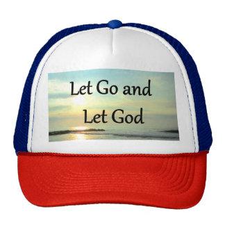 INSPIRING LET GO AND LET GOD PHOTO TRUCKER HAT