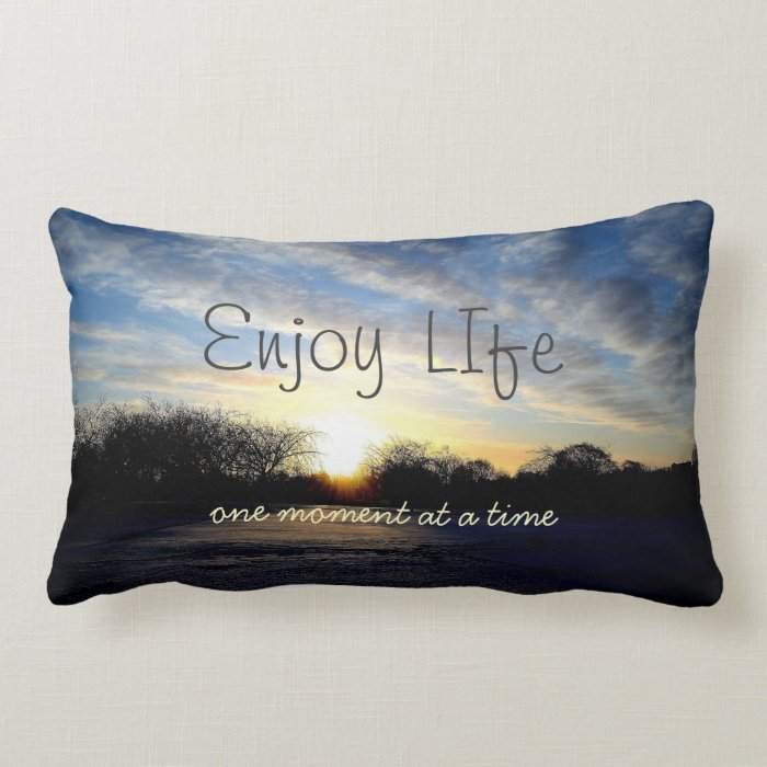 Inspiring Life Moments Quote Throw Pillow