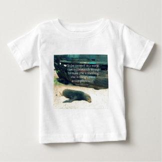 Inspiring Life quote beach theme Baby T-Shirt