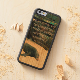 Inspiring Life quote beach theme Carved Cherry iPhone 6 Bumper Case