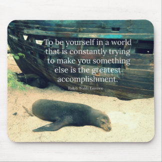 Inspiring Life quote beach theme Mouse Pad