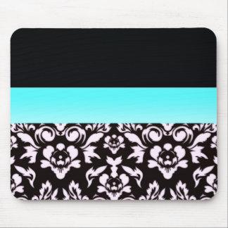 Inspiring light pinkish damask pattern mouse pad
