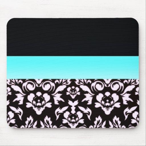 Inspiring light pinkish damask pattern mouse pads