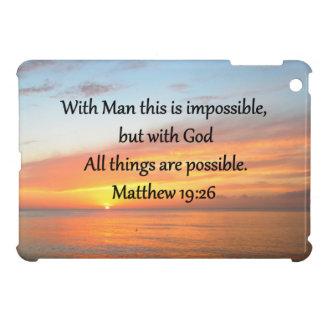 INSPIRING MATTHEW 19:26 SUNRISE DESIGN iPad MINI CASES