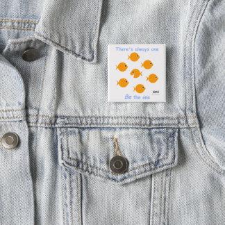 Inspiring Motto for Elementary Kids Goldfish Button