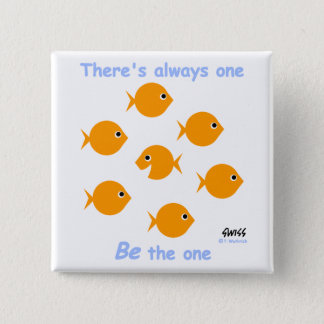 Inspiring Motto for Elementary Kids Goldfish Button
