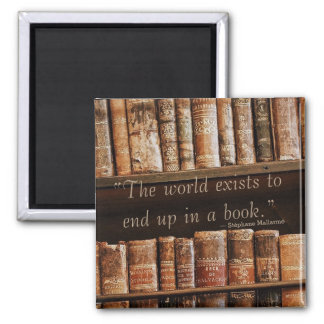 Inspiring Old Book Quote Magnet