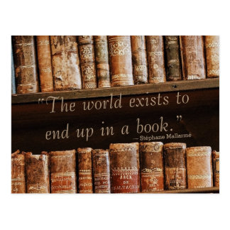 Inspiring Old Book Quote Postcard
