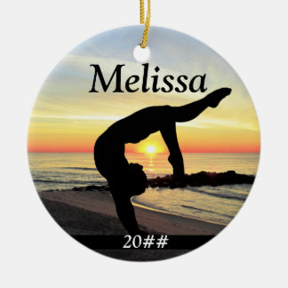 INSPIRING PERSONALIZED GYMNAST GIRL ORNAMENT
