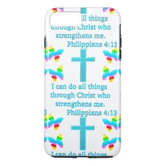 INSPIRING PHILIPPIANS 4:13 DESIGN iPhone 8 PLUS/7 PLUS CASE