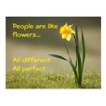 Inspiring postcard. Flowers Tarjetas Postales