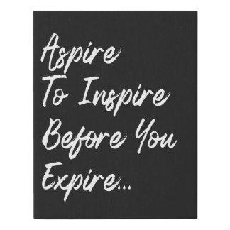 Inspiring Quote Canvas