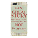 Inspiring Quote Don' Give Up Cover For iPhone 5/5S