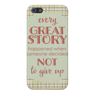 Inspiring Quote Don' Give Up Cover For iPhone SE/5/5s