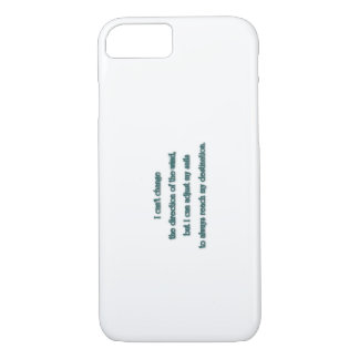 Inspiring Quote - I can't change the direction … iPhone 8/7 Case