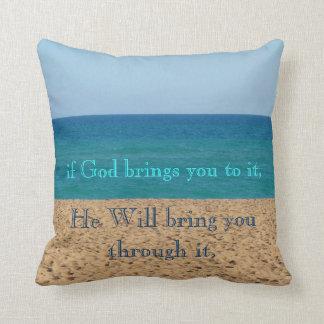 Inspiring Quote Throw Pillow