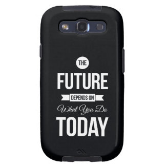 Inspiring Quotes The Future Black Galaxy SIII Case