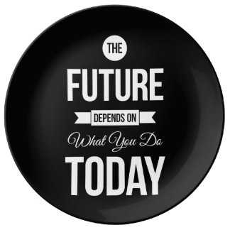 Inspiring Quotes The Future Black Plate