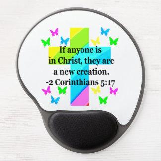 INSPIRING RAINBOW CROSS 2 CORINTHIAN 5:17 GEL MOUSE PAD