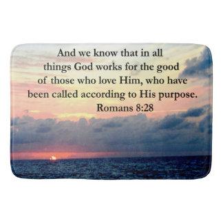 INSPIRING ROMANS 8:28 DESIGN BATH MAT
