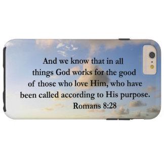 INSPIRING ROMANS 8:28 DESIGN TOUGH iPhone 6 PLUS CASE