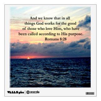 INSPIRING ROMANS 8:28 DESIGN WALL DECAL