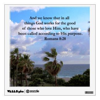INSPIRING ROMANS 8:28 DESIGN WALL STICKER