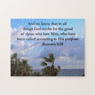 INSPIRING ROMANS 8:28 PUZZLES