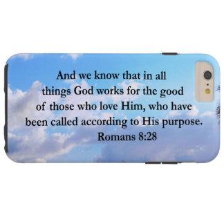 INSPIRING ROMANS 8:28 TOUGH iPhone 6 PLUS CASE