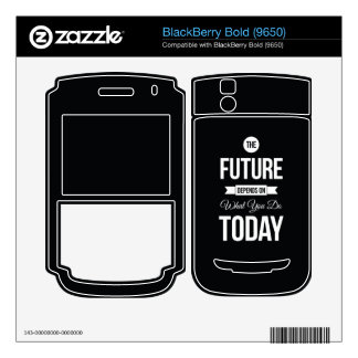 Inspiring Sayings The Future Black BlackBerry Decals