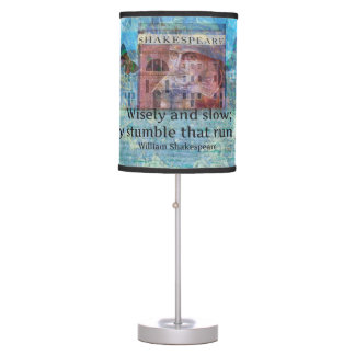 inspiring Shakespeare Quote from Romeo and Juliet Desk Lamps