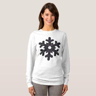 Inspiring Snowflake Shape Long Sleeve T-Shirt