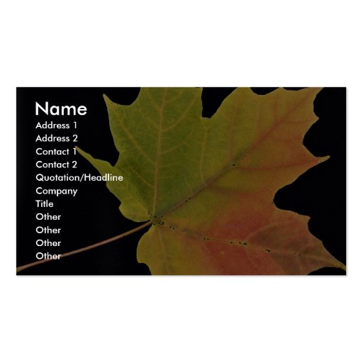 Inspiring Sugar maple leaf Double-Sided Standard Business Cards (Pack Of 100)