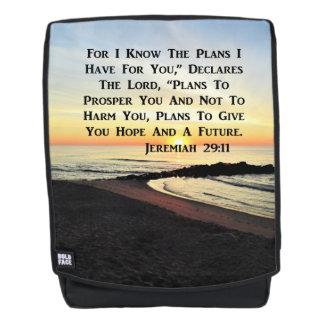 INSPIRING SUNRISE JEREMIAH 29:11 PHOTO BACKPACK